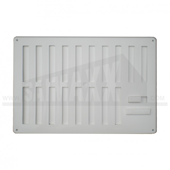 White Plastic t & Miss Ventilator with Fly Screen