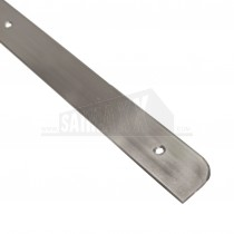 Worktop End Cap Silver Finish 30mm
