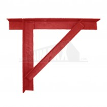Gallows Brackets 50mm x 50mm Angle Steel PAIR Red Oxide Coated