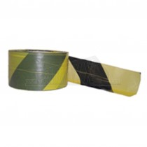 Barrier Tape (Non-Sticky) 75mm x 500m Black & Yellow
