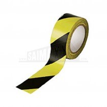 Hazard (Barrier) Warning Tape Self-Adhesive (Sticky) Black & Yellow 50mm x 33m