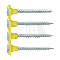 Collated Twin Threaded Drywall Screws Zinc Plated 25mm 1000pc