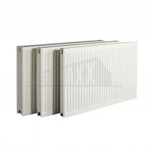 T22 500mm Height x 1000mm wide White Radiator with Grilles Biasi Style 5129 Btu