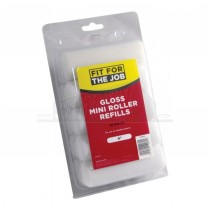 """Fit for The Job 4"""" Gloss Mini Roller Refill Sleeves 10pc Pack Foam"""