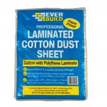 Everbuild LAMINATED Cotton Dust Sheet 12' x 9'