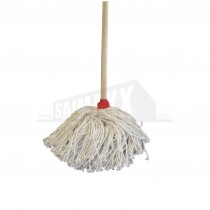 Cotton Mop Head Fitted with Wooden Broomstick