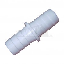 17x17mm White Washing Machine Waste Water Hose Outlet Connector