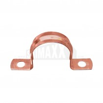 Copper Saddle Pipe Clips 15mm