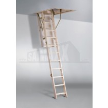 Youngman Eco S Line (Folding) Timber Loft Ladder & Hatch Door & Frame