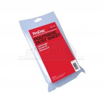 Prodec Polythene Plastic Dust Sheet 3.7m x 3.7m (12' x 12')