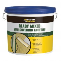 Everbuild Readymixed Wall Covering Adhesive Paste 4.5Kg Bucket