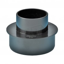 Round 68mm Downpipe to 110mm Round Soil Adaptor (Joint) Black