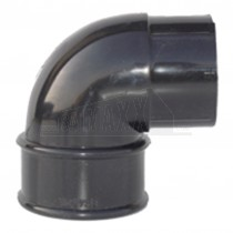 Round 68mm Downpipe 92.5 degree Offset Bend Black