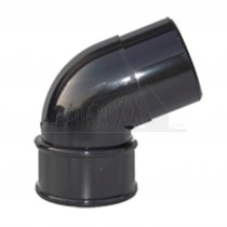 Round 68mm Downpipe 112.5 degree Offset Bend Black