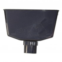 Round 68mm Downpipe Hopper (For Square or Round Pipe) Black