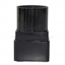 Square to Round 68mm Downpipe Adaptor (Joint) Black