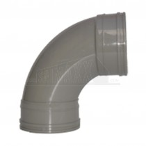 110mm Solvent Grey Bend 92.5 degree Double Socket
