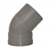 110mm Solvent Grey Bend 45 degree SINGLE Socket