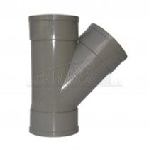 110mm Solvent Grey 'Y' Junction 135 degree Triple Socket
