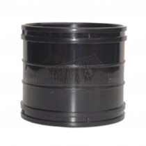 110mm Solvent Black Coupling (Straight Joint)