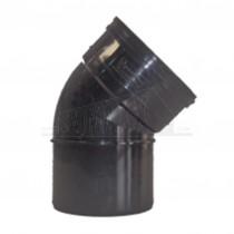 110mm Solvent Black Bend 45 degree Single Socket