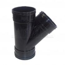 110mm Solvent Black 'Y' Junction 135 degree Triple Socket
