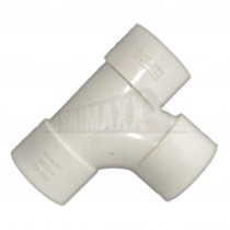 40mm Tee Solvent White Each