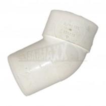 40mm 92.5 deg Male/Female (Street) Bend Solvent White Each