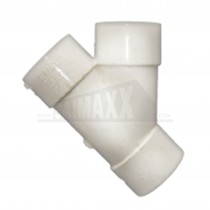 40mm Y-Branch Solvent White Each