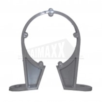 32mm Pipe Clips Solvent Grey Each
