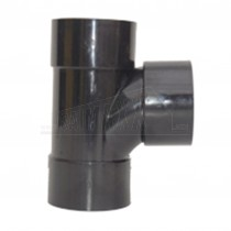 32mm Tee Solvent Black Each
