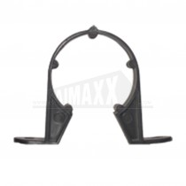 32mm Pipe Clips Black Solvent Each