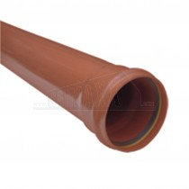 Underground 110mm x 3m Pipe Socketed