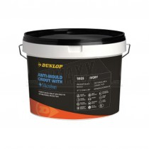 Dunlop ANTI MOULD Grout with Microban Brilliant White 5kg