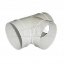 White Round Ducting 100mm Equal Tee