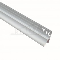 Heavy Duty Bath to Tile Edging Trim (with Soft RUBBER Edge) WHITE 1.8m