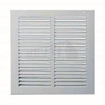 """KingShield 4""""/100mm Fixed Grille (Louvred Ventilation WHITE"""