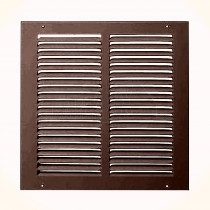 """KingShield 4""""/100mm Fixed Grille (Louvred Ventilation BROWN"""