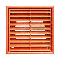 """KingShield 4""""/100mm Fixed Grille (Louvred Ventilation TERRACOTTA"""