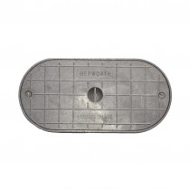 "Alloy Metal Access Plate Oval Shaped 305x150mm (11"" x 6"")"