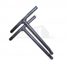 Hooked Lifting Keys Pair for Recessed Manhole Cover Trays PAIR