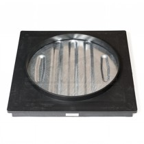 Square to Round Block Paving Tray 300mm by 80mm Deep Plastic Frame 10T