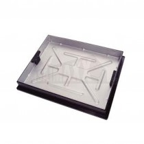 Block Paving Manhole (Tray) Cover 600x450mm by 65mm Deep Poly Frame