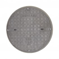 450mm Round CAST IRON Access Cover with Plastic Frame A15 Pedestrian Loading