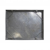Double Seal Recessed Manhole Cover 600x450x58mm Metal Frame 10T