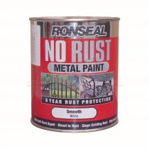 Ronseal No Rust Metal Paint White Smooth 250ml