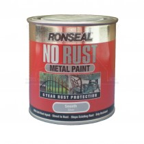 Ronseal No Rust Metal Paint Silver Smooth 250ml