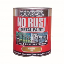 Ronseal No Rust Metal Paint Gold Smooth 250ml