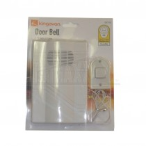 Kingavon Door Bell DC112 - Battery Operated with Wired Bell Push