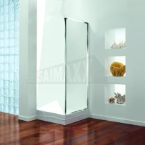 Coram GB Chrome Finish Clear Glass SIDE PANEL for Shower Doors 760mm